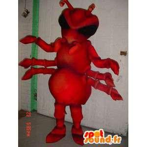 Maskot červené mravence, obra. kostým mravenci