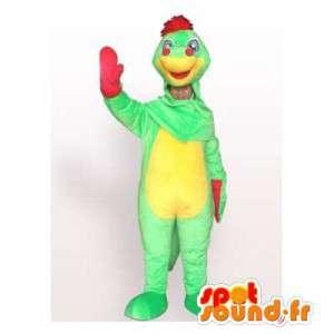 Mascotte de dinosaure coloré. Costume de dinosaure