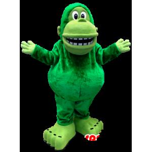 Zelená opice maskot, obří