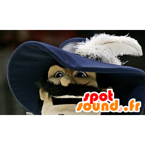 Mascot realistic musketeer