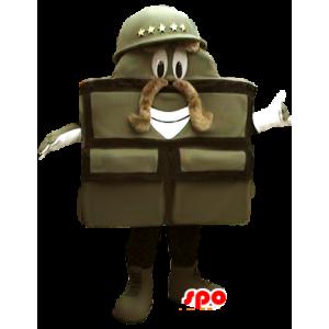 Mascot soldier, military bag