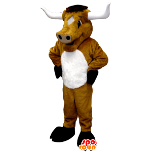 Brown cow mascot, bull, buffalo, giant