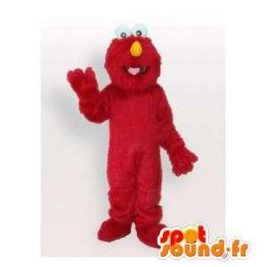 Mascot monstruo rojo Muppet Show