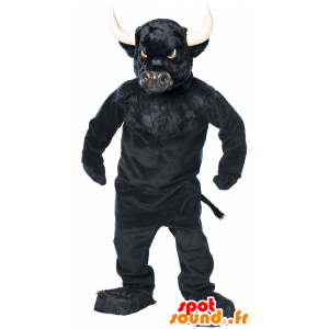 Buffalo mascot, black bull, very impressive