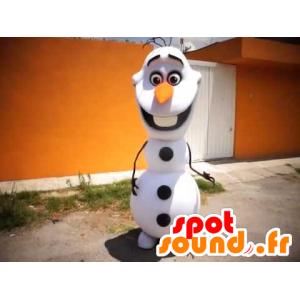 Bílá a černá Snowman Mascot