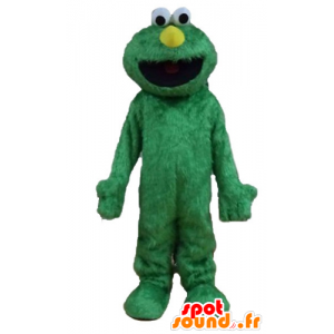 Elmo mascot, famous puppet of the Muppets Show, Green