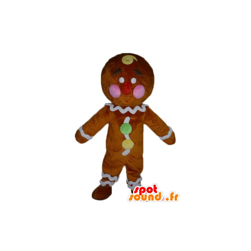 Ti μπισκότο μασκότ, διάσημη μελόψωμο στο Shrek - MASFR23417 - Σρεκ Μασκότ