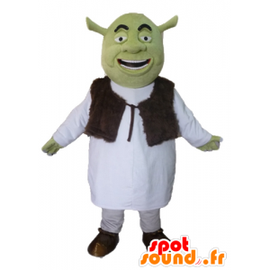 Mascot Shrek, de beroemde groene ogre cartoon