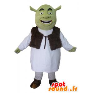 Maskot Shrek, slavný zelený zlobr karikatura