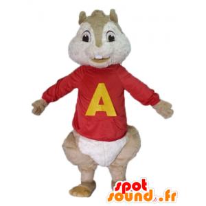 Maskot hnědý veverka, Alvin a Chipmunkové