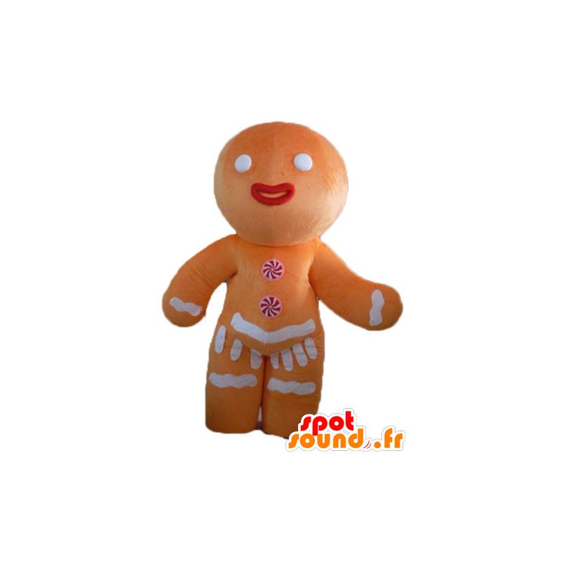 Ti koekje mascotte, beroemde peperkoek in Shrek - MASFR23503 - Shrek Mascottes