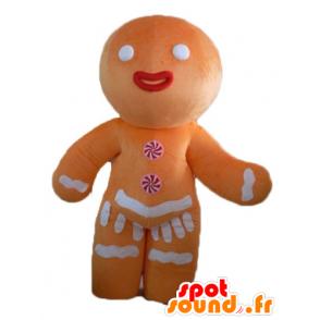 Ti mascote biscoito, famoso pão de gengibre em Shrek - MASFR23503 - Shrek Mascotes