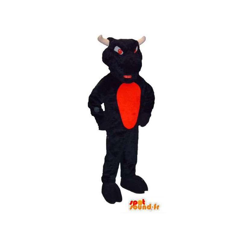 Mascotte de taureau marron avec des yeux rouges achetez for Interieur yeux rouge