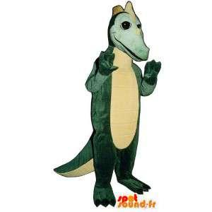 Mascotte de dinosaure vert - Toutes tailles