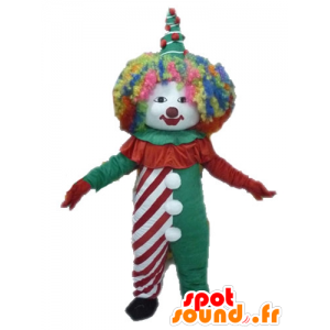 Colorato pagliaccio mascotte. circo mascotte