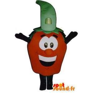 Mascota de la fresa.Disfraz de fresa gigante