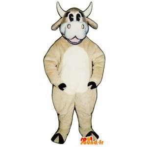 Mascotte della mucca. Costume della mucca