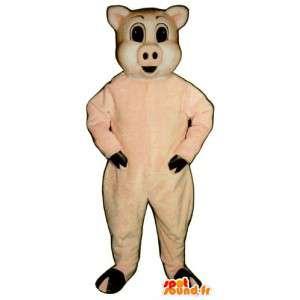 Mascotte de cochon rose
