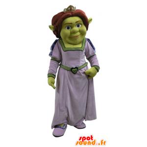 Fiona maskot, slavná žena Shrek, zelený zlobr