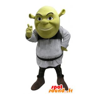 Shrek maskot, známý zelený zlobr karikatura