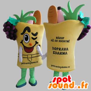 Gemüsekorb Maskottchen. Gemüse Maskottchen - MASFR031819 - Maskottchen von Gemüse