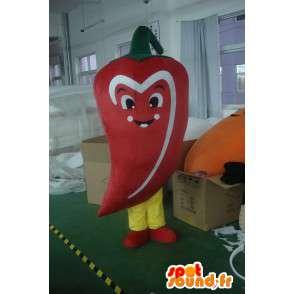 Pepe rosso Mascot - Costume vegetale piccante - Eventi - MASFR00314 - Mascotte di verdure