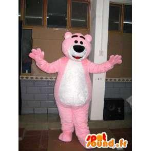 Bear mascot pink - Teddy Bear - Costume animal - MASFR00598 - Bear mascot