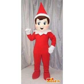 Imp red se speciální červený a bílý kužel vánoční čepice - MASFR00697 - Vánoční Maskoti