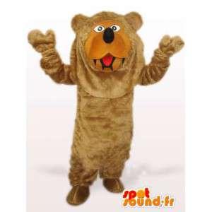 Mascotte ours de la forêt - Tunique marron spéciale pour fêtes