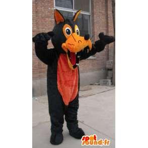 Mascotte loup marron et orange en peluche - Costume loup garou - MASFR00325 - Mascottes Loup