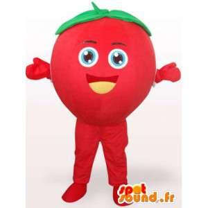 Mascot Mansikka tagada - metsämarja puku - punainen hedelmä