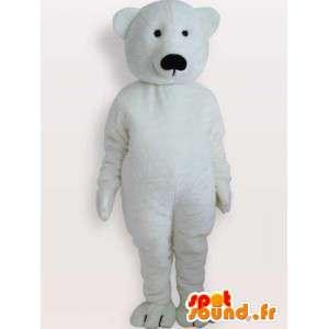 Mascotte d'ours polaire - Déguisement d'animal du grand noir