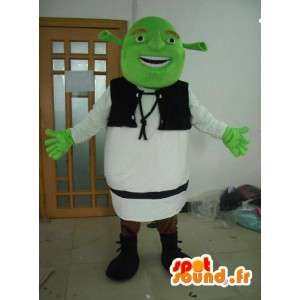 Shrek maskotti - kuvitteellinen hahmo puku