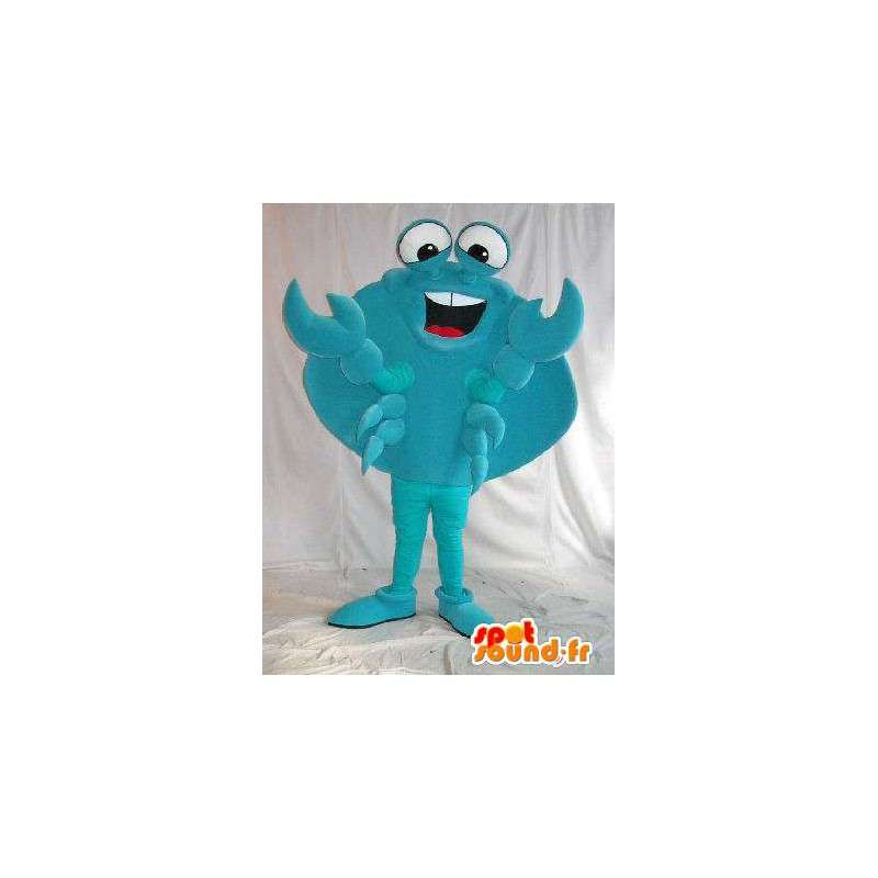 Šťastný krab maskot kostým s pláštěm - MASFR001786 - maskoti Crab
