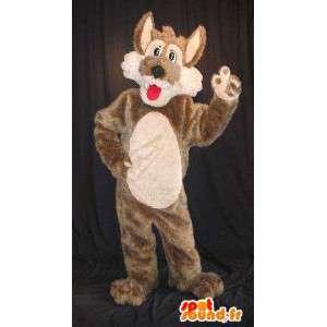 Mascotte du petit loup gentil, déguisement de loup