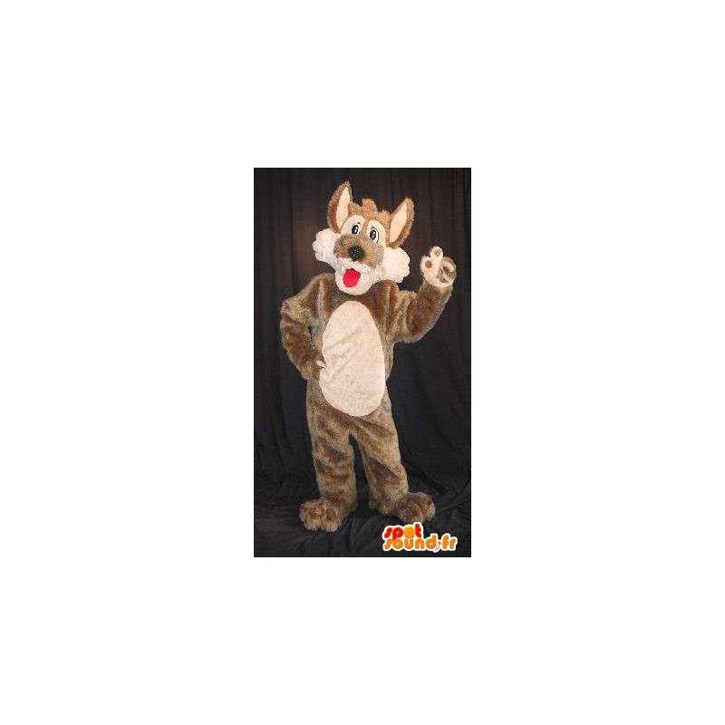 Mascotte du petit loup gentil, déguisement de loup - MASFR001823 - Mascottes Loup