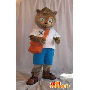En representación de una Escuela mascota ardilla colegial traje