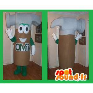 Kladivo ve tvaru maskot kostým údržbář