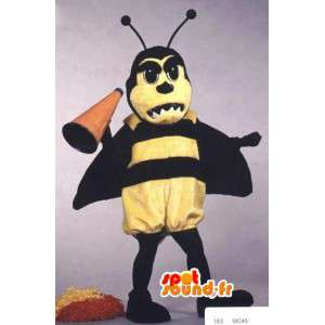 Maskot žlutá a černá vosa - vosa kostým