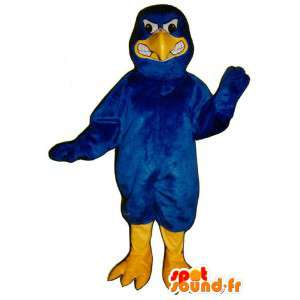 Mascotte d'oiseau bleu, à l'air méchant - Costume d'oiseau bleu