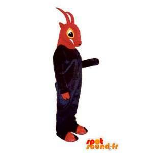 El rojo y el púrpura de la mascota de cabra - cabra de vestuario