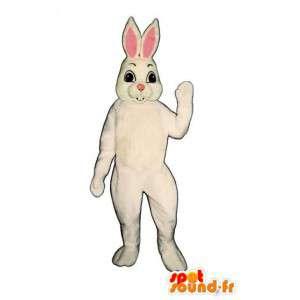 Mascotte de lapin blanc à grandes oreilles - Costume de Pâques