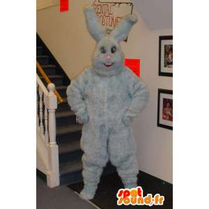 Mascotte de lapin gris tout poilu - Costume de lapin gris