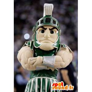 Gladiator mascot with his muscled traditional dress