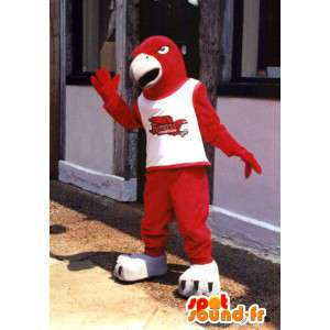 Mascota del pájaro rojo de tamaño gigante - águila de vestuario