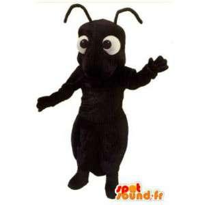 Mascot hormiga gigante negro - Ant vestuario
