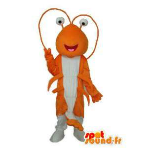 Mascot naranja y hormiga blanca - disfraz de hormigas