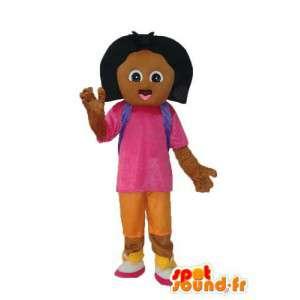 Ruskea tyttö maskotti - Character Puvut