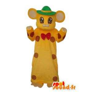 Costume de chat en robe jaune – Déguisement de chat en robe