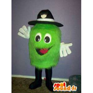 Little green monster mascot clear cap - plush costume